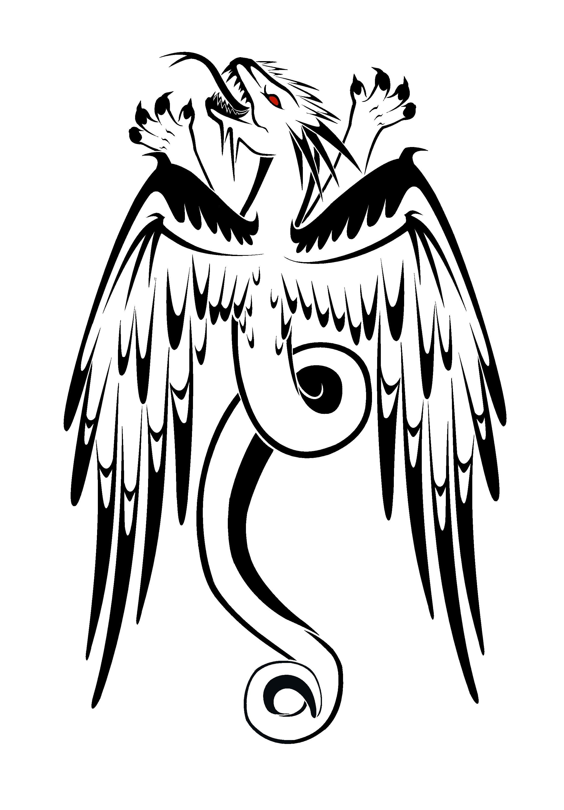 2300x3300 Eagle Dragon Tattoo Sample