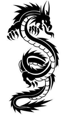 236x406 Fresh Dragon Tribal Tattoo