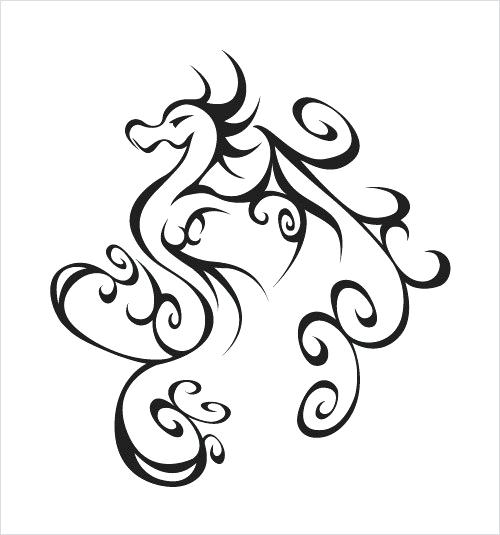 500x535 How To Draw A Basic Dragon Sweet And Simple Dragon Tattoos Library