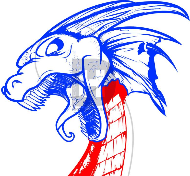 776x719 How To Draw A Dragon Tattoo, Dragon Tattoo, Step