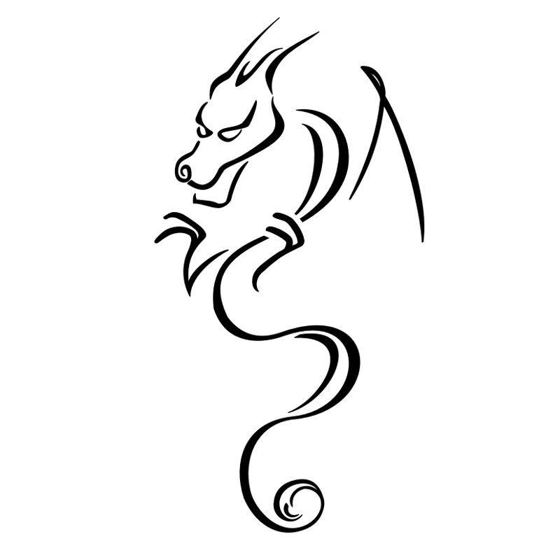 800x800 Simple Dragon Tattoo Designs For Men