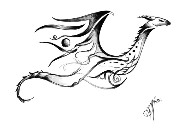 736x552 Drawing Dragons Dragon Tattoos Tribal Tribal Dragon Tattoo
