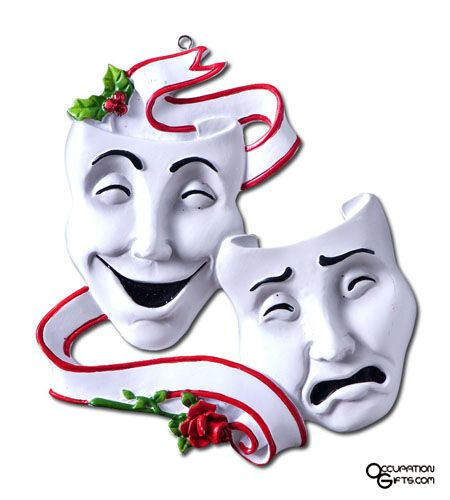 450x500 drama masks ornament smile now cry later drama masks