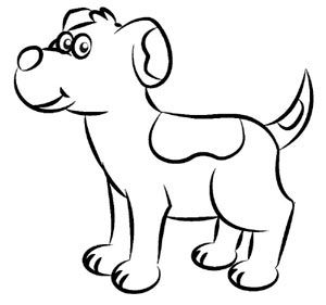 300x281 How To Draw A Dog Step