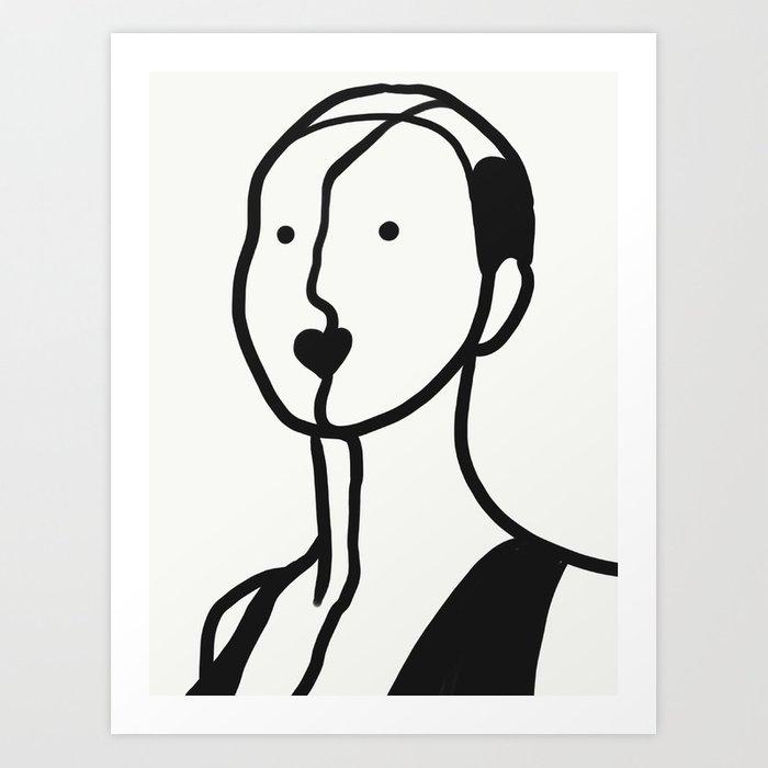700x700 Manish Mansinh Line Drawing Art Print