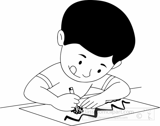 550x435 Free Black And White Children Outline Clipart