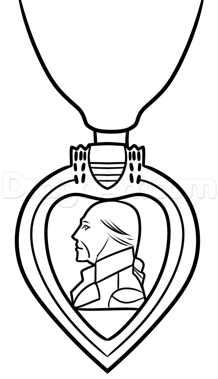 699x1212 Drawing The Purple Heart Medal, Step