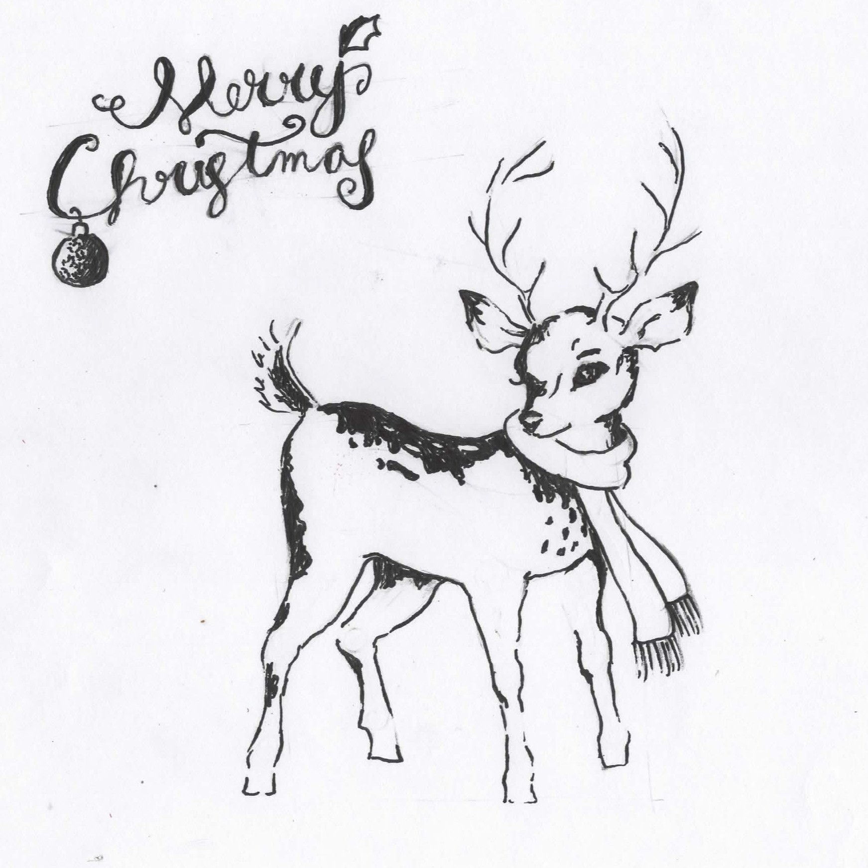1743x1743 Reindeer Drawing Timelapse Bcs Logic