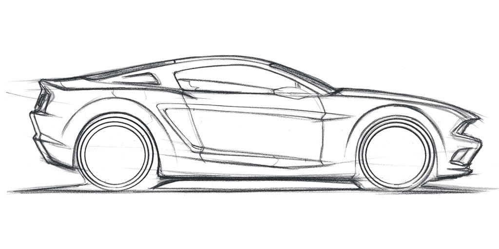 1024x512 Ford Concept Drawing Mustang Heaven