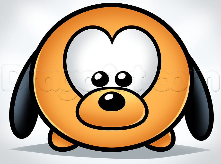 909x676 How To Draw Tsum Pluto, Step