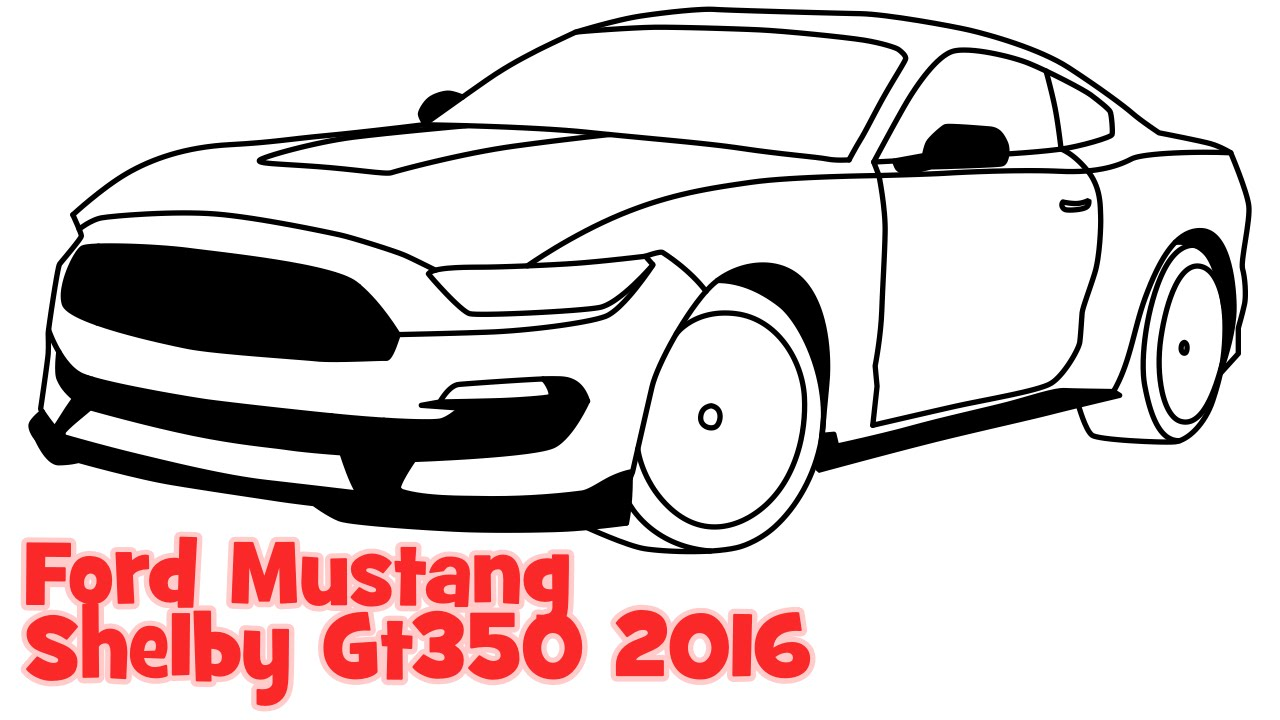 1280x720 How To Draw A Car Ford Mustang Shelby Step