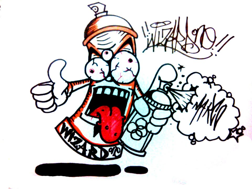 960x720 How To Draw A Crazy Spray Can Character