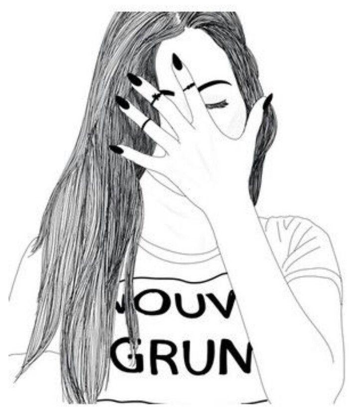 720x842 Drawing Sketch Tumblr Girl Drawing