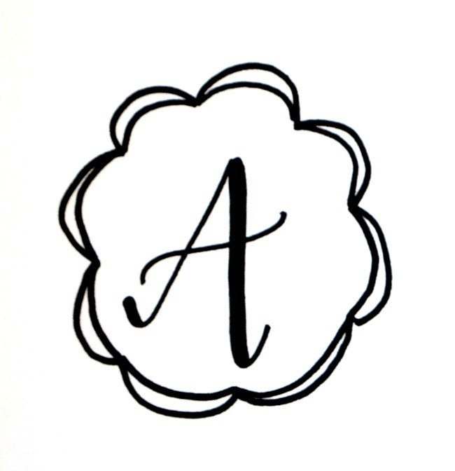 650x672 Basic Hand Lettering Drawing A Monogram