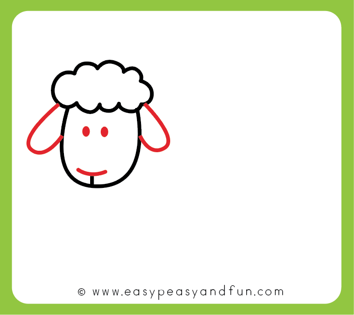 703x627 How To Draw A Sheep