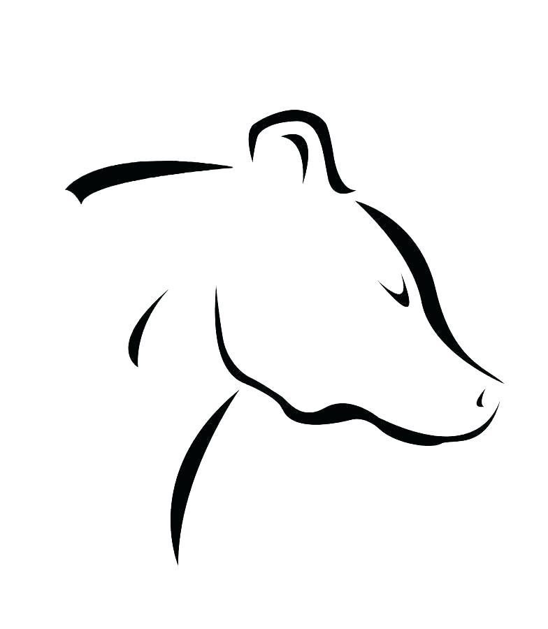 784x900 Simple Bear Drawing