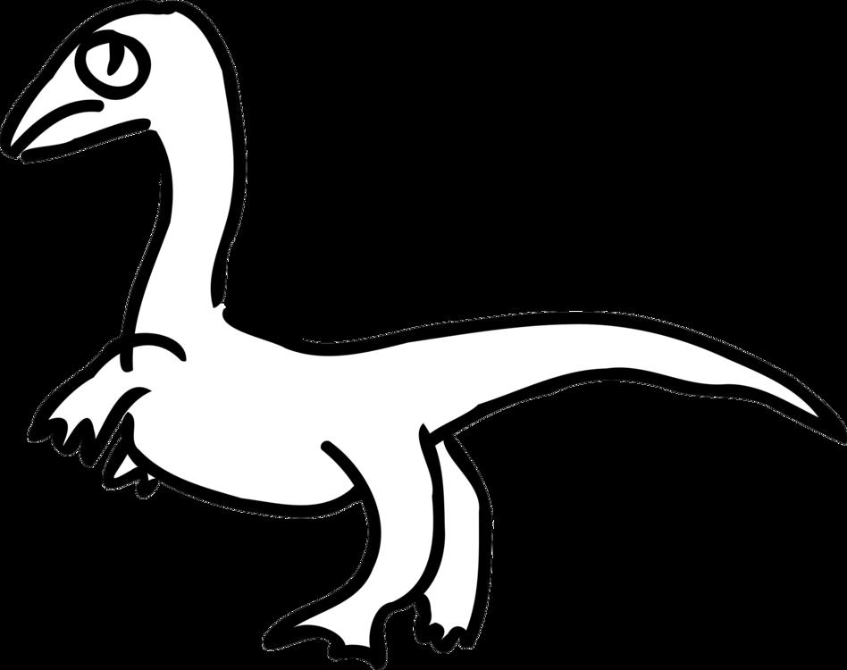 948x750 velociraptor drawing dinosaur duck diagram cc0