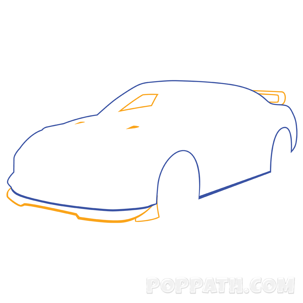 1000x1000 How To Draw A Race Car Pop Path