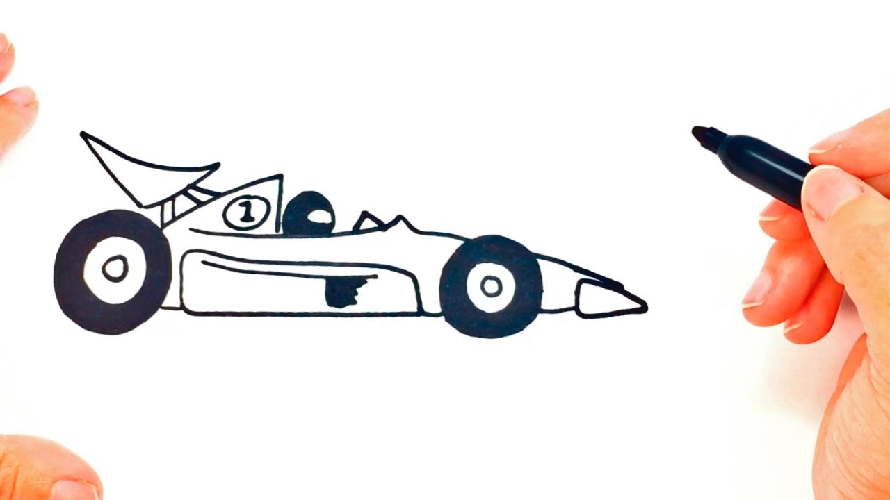 1280x720 How To Draw A Race Car Step