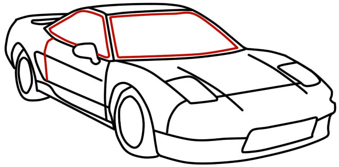 660x326 How To Draw Racing Car With A Pencil