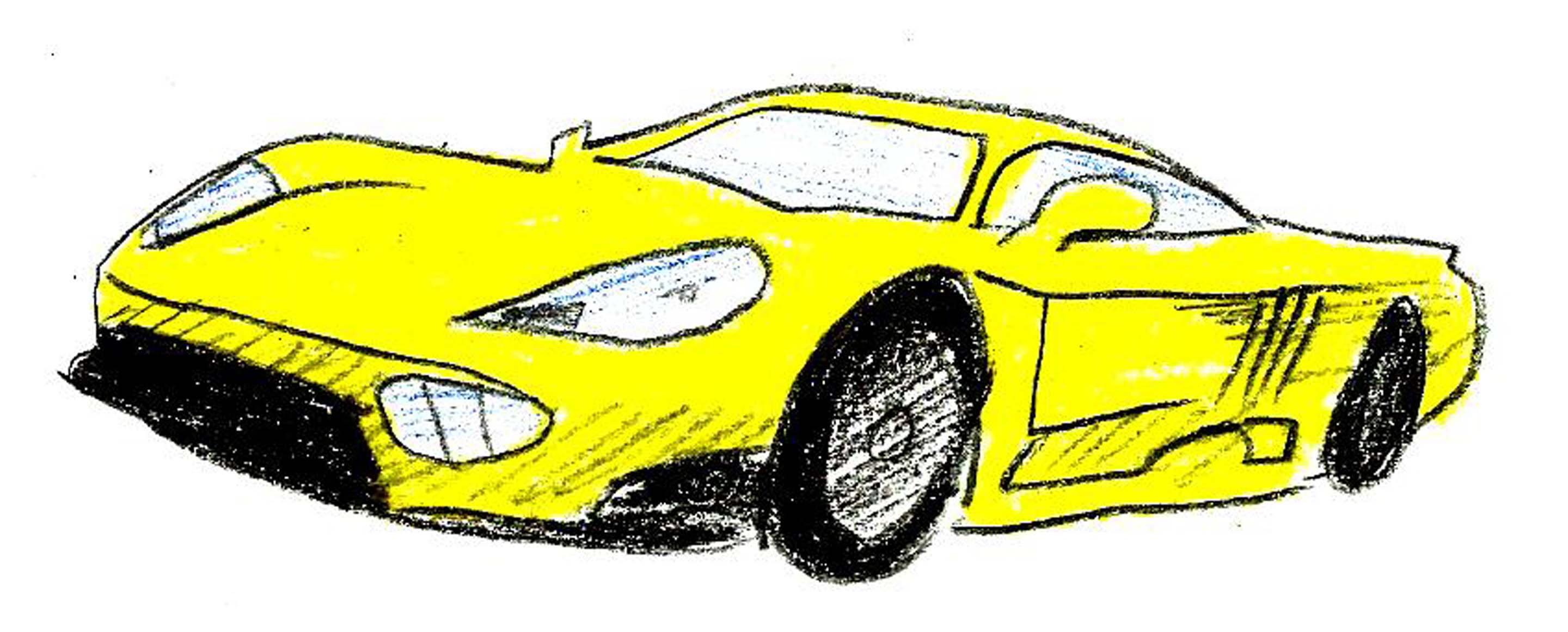 2880x1162 Racing Car Easy Drawing