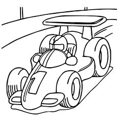 230x230 Top Race Car Coloring Pages For Your Little Ones