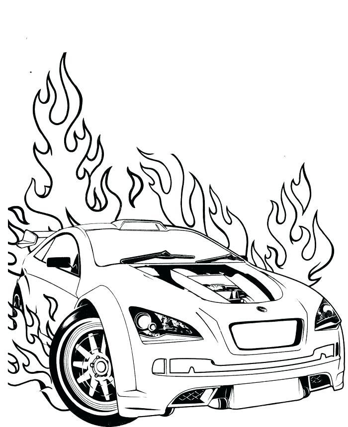 700x860 Race Car Coloring
