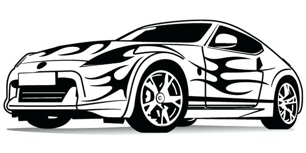 600x300 Race Car Drawing Template