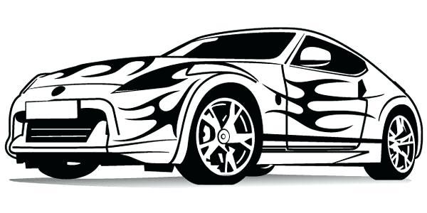 600x300 Race Car Drawing Template