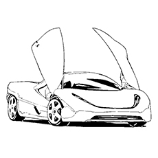 230x230 Drawing Race Car Coloring Template Image Coloring Pages