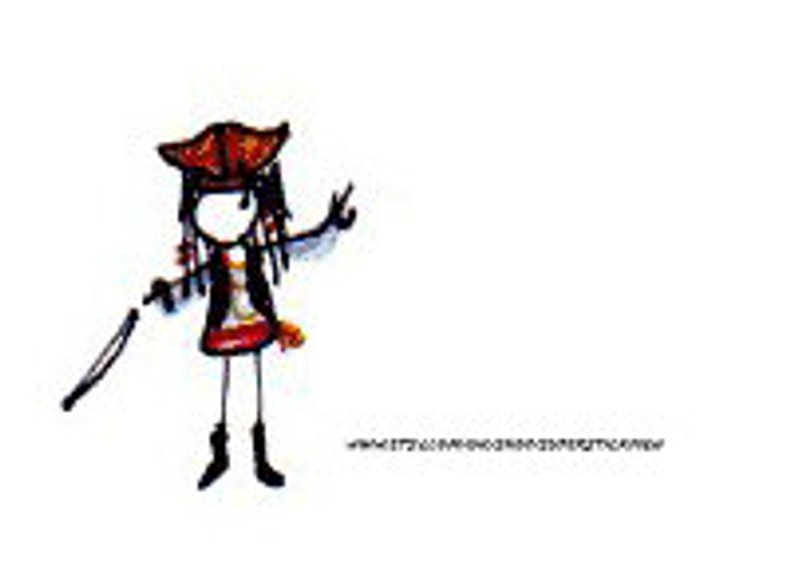 794x573 pirate greetings card stickman card fun card childrens card etsy