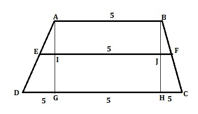 388x224 Abcd Is A Trapezium With Ad Parallel To Cd E And F Are The Mid