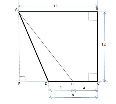 402x361 abcd is a trapezoid with line bc perpendicular to line ab and line