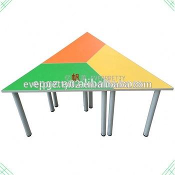 350x350 triangle kids art desk set,single trapezoid kids study desk,kids