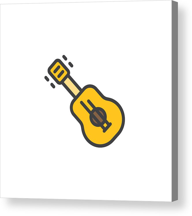 666x750 Acoustic Guitar Filled Outline Icon Acrylic Print