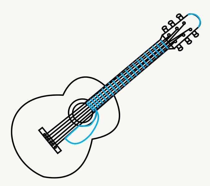 678x600 Guitar Drawing Sketch New Acoustic Guitar Vector Sketch Icon