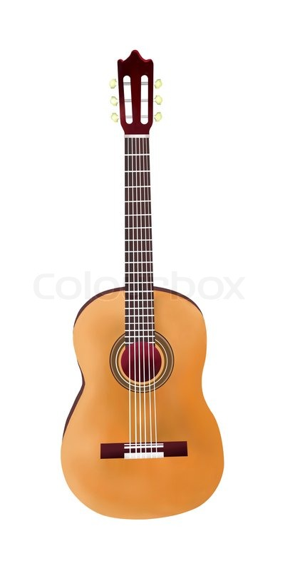 400x800 Hand Drawing Of Classical Guitar On Stock Image Colourbox