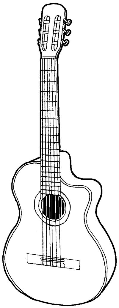 400x1027 How To Draw A Guitar With Easy Step
