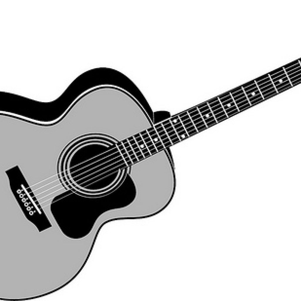 1024x1024 Huge Collection Of 'acoustic Guitar Clipart' Download More Than