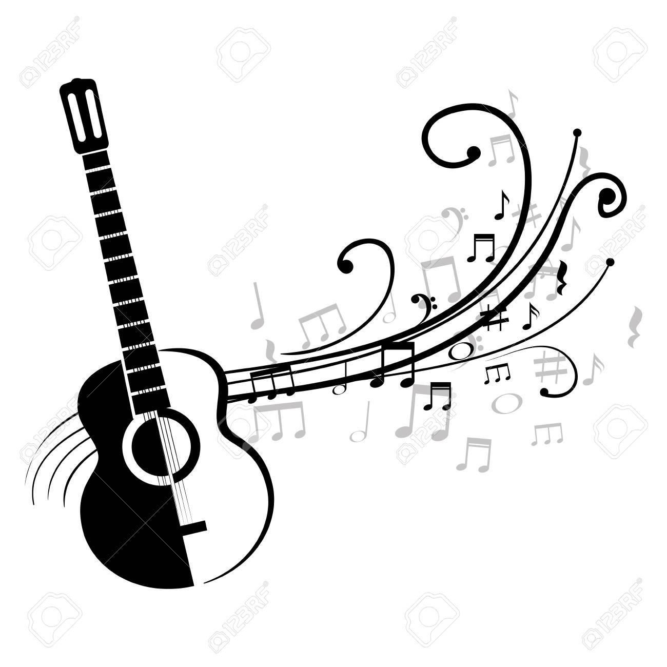 1300x1300 Acoustic Guitar Clipart Note Clipart