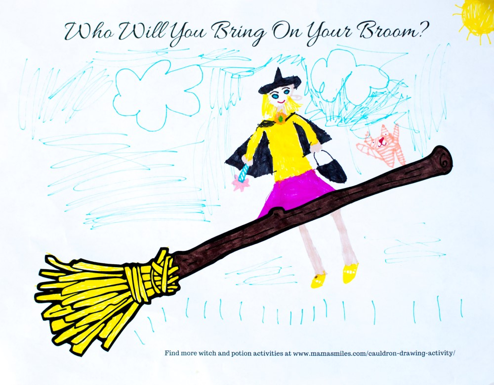 1000x778 broom and cauldron drawing activity for room on the broom