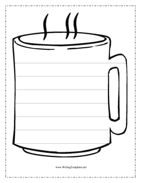 281x364 The Coffee Cup In This Free, Printable Writing Template Might Be