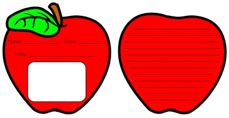 450x232 Unique Apple Writing Templates Fun Back To School Printable