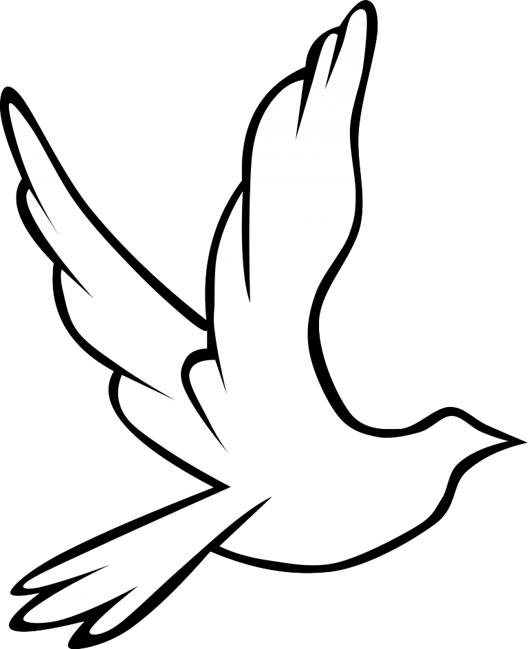768x944 Dove Drawing Template For Free Download