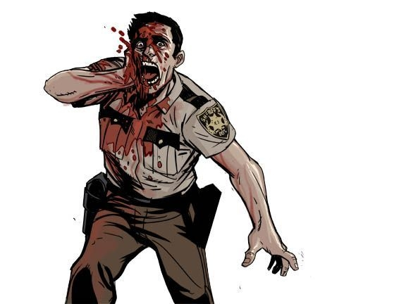 576x432 walking dead dead reckoning video game art