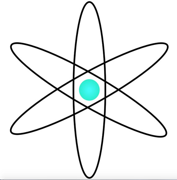 570x578 Atom Clip Art Atoms Clipart Atomic Image Science Graphic Icon