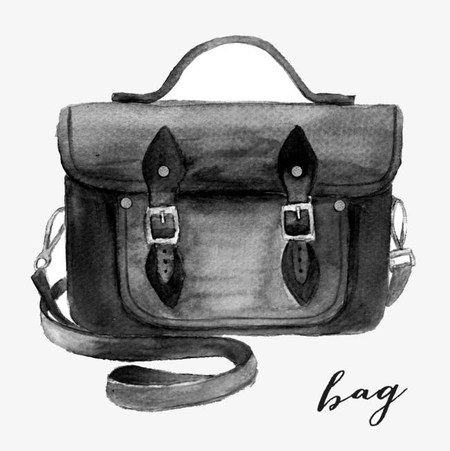 650x651 pencil drawing bag, bag clipart, bag, hand painted png image