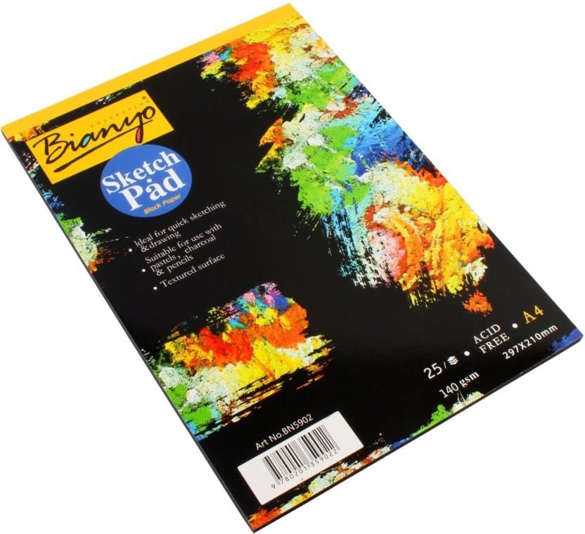 832x760 bianyo hardback gsm, black paper artist's drawing sketch