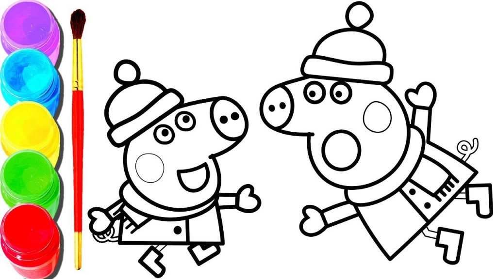 1024x576 Pig Coloring Book Or Pages Free Printable With Peppa Online Plus