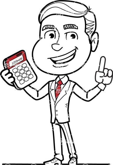 437x640 Black And White Businessman Cartoon Vector Character Aka